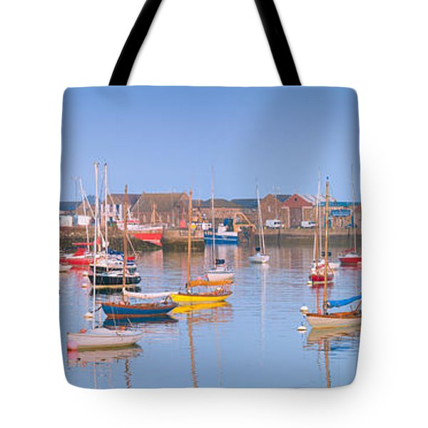 Fishing Boats In The Howth Marina Tote Bag