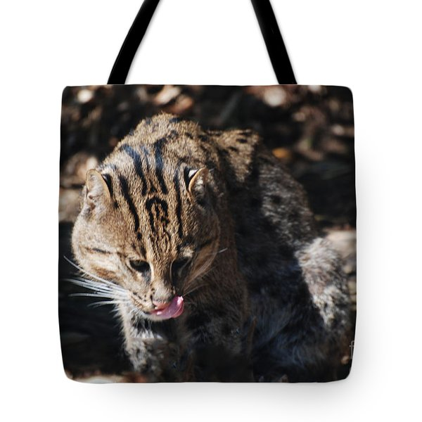 Fishing Cat Tote Bag by DejaVu Designs