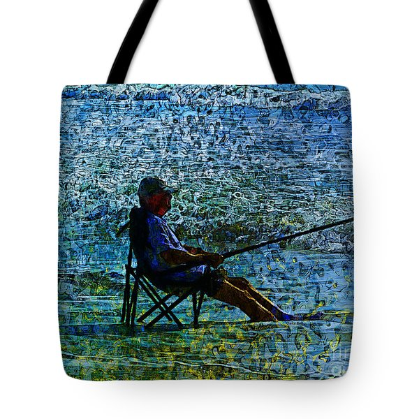 Fishing Tote Bag by Claire Bull