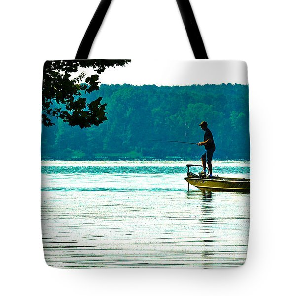 Fishing Crab Orchard Lake Tote Bag