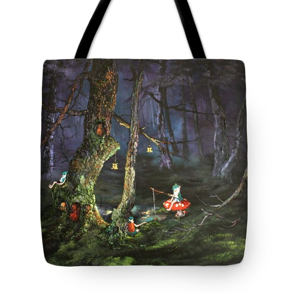 Fishing For Supper On Cannock Chase Tote Bag