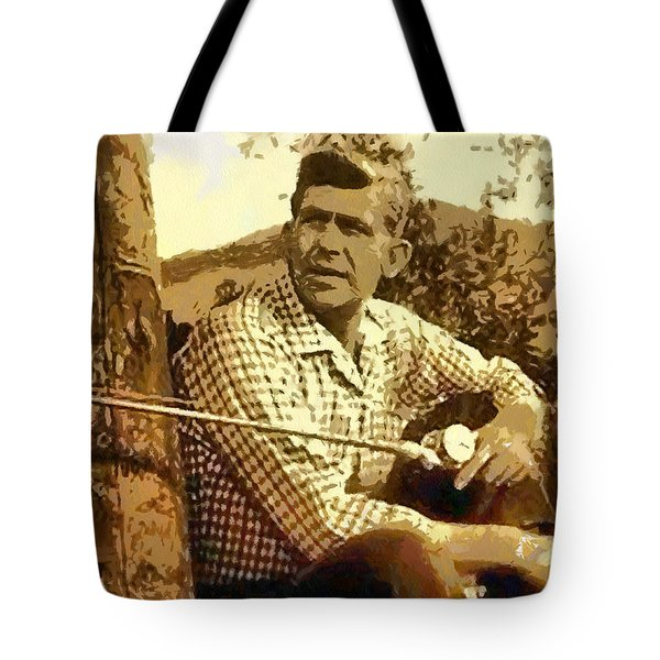 Fishing From The Dock Tote Bag by Paulette B Wright