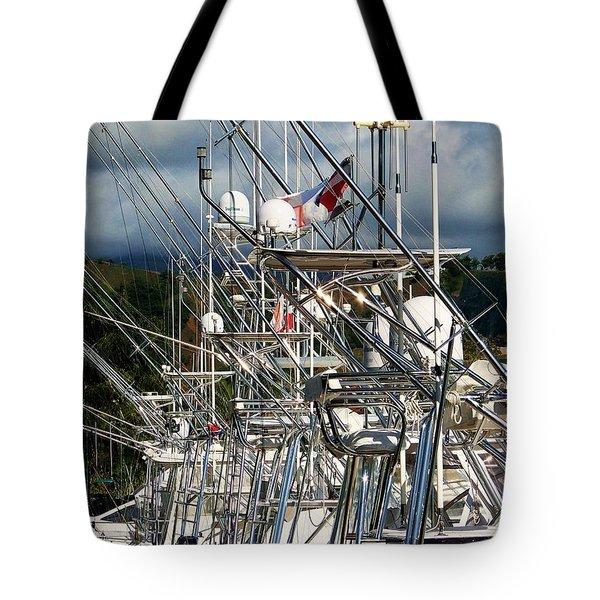 Fishing Fury Tote Bag by Karen Wiles