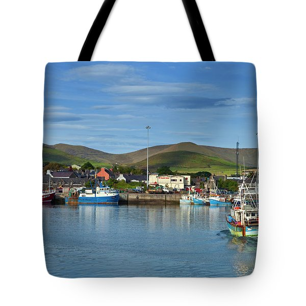 Fishing Harbour In Dingle Town, Dingle Tote Bag