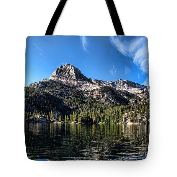 Fishing In Lake Sabrina Tote Bag