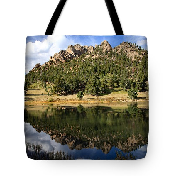 Fishing In Solitude Tote Bag by Karen Lee Ensley