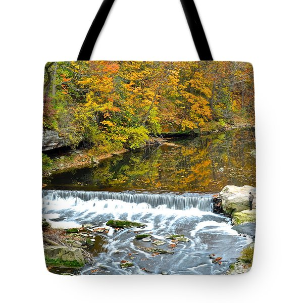 Fishing Is Relaxing Tote Bag by Frozen in Time Fine Art Photography
