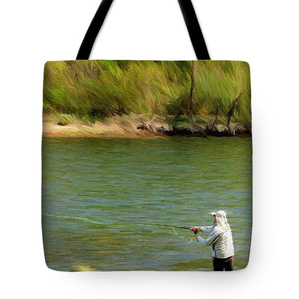 Fishing Lake Taneycomo Tote Bag by Jeffrey Kolker