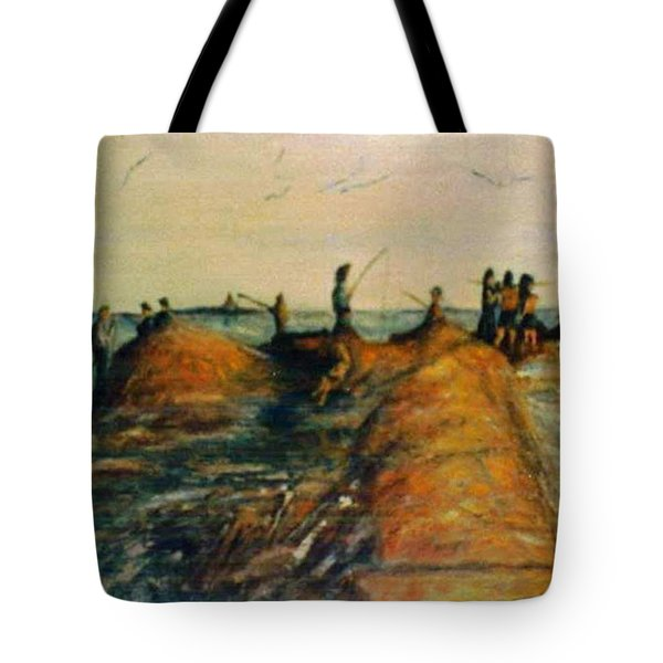 Fishing Near New Haven Tote Bag