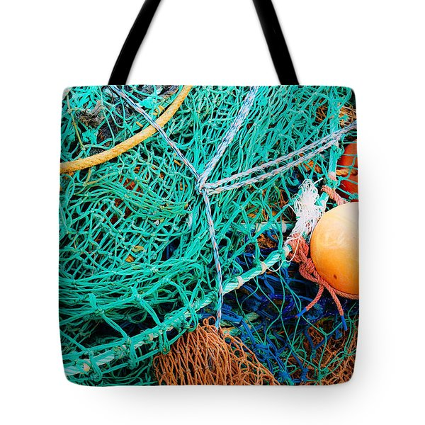 Fishing Nets And Floats Tote Bag by Jane McIlroy
