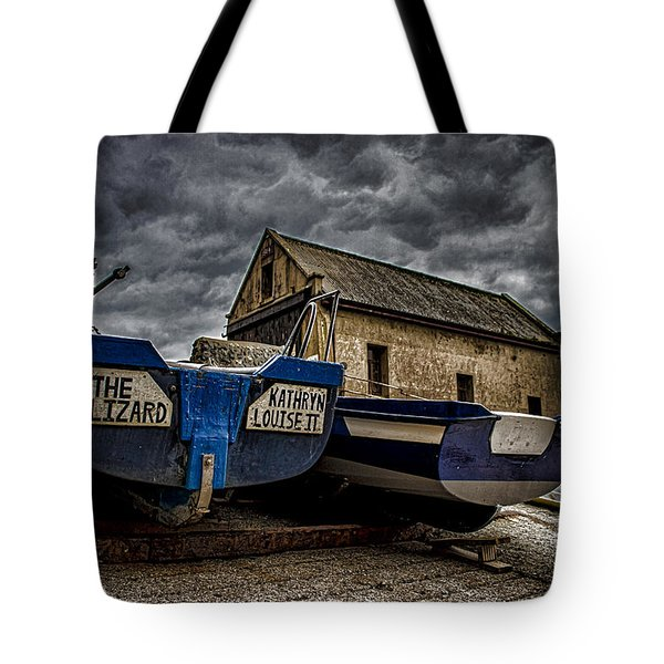 Fishing Off The Lizard Tote Bag by Martin Newman