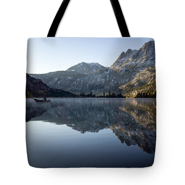 Fishing On Silver Lake  Tote Bag