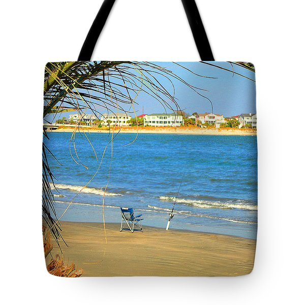 Fishing Paradise At The Beach By Jan Marvin Studios Tote Bag