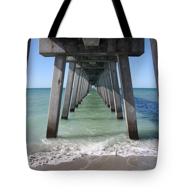 Fishing Pier Architecture Tote Bag