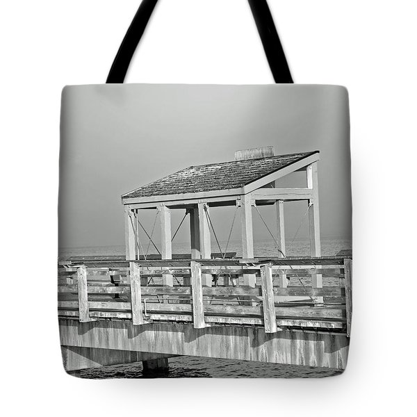 Tote Bag featuring the photograph Fishing Pier by Tikvah's Hope