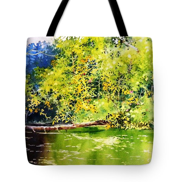 Fishing Pond Tote Bag