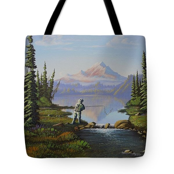Fishing The High Lakes Tote Bag