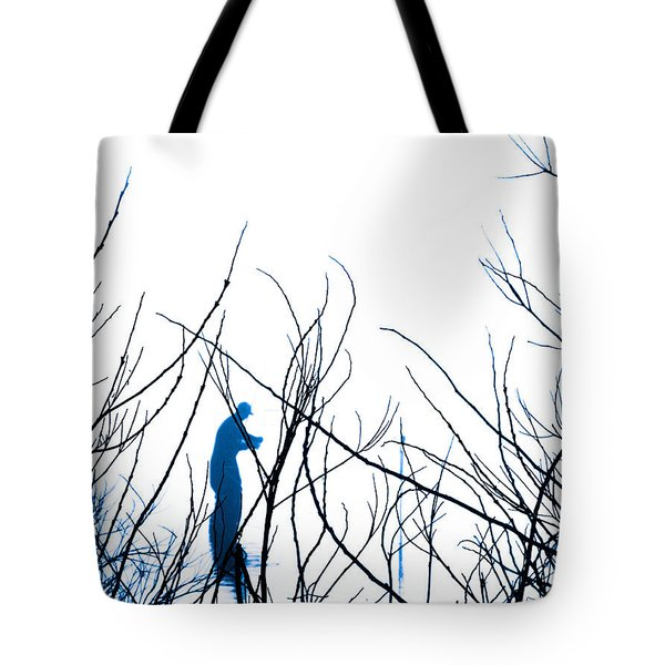 Tote Bag featuring the photograph Fishing The River Blue by Robyn King