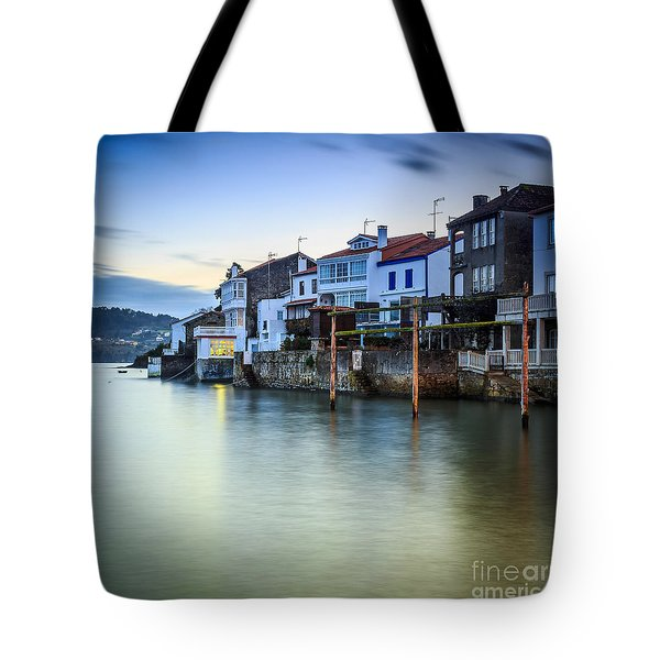 Fishing Town Of Redes Galicia Spain Tote Bag