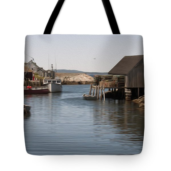 Tote Bag featuring the digital art Fishing Village by Kelvin Booker