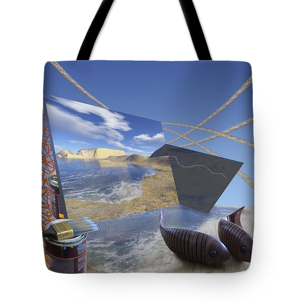 Fishing With Paint Tote Bag by Jennifer Kathleen Phillips