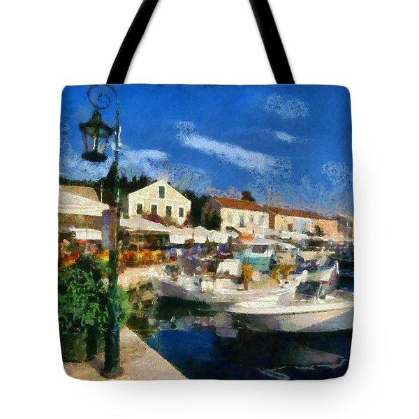 Fiskardo Town In Kefallonia Island Tote Bag