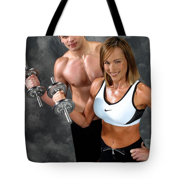 Fitness Couple 17-2 Tote Bag by Gary Gingrich Galleries