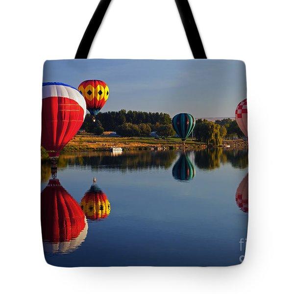 Five Aloft Tote Bag by Mike  Dawson