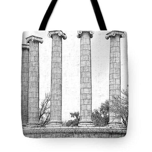 Five Columns Sketchy Tote Bag by Debbie Portwood