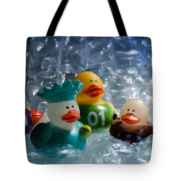 Five Ducks In A Row Tote Bag