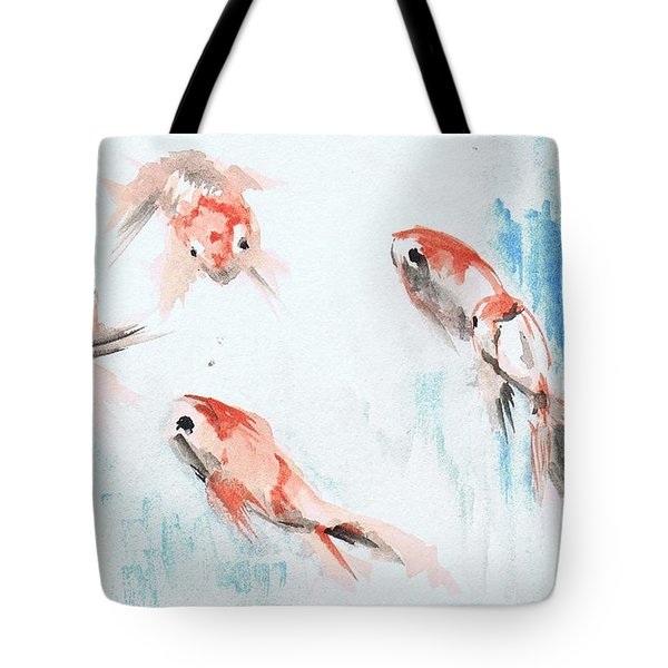 Five Goldfish Tote Bag