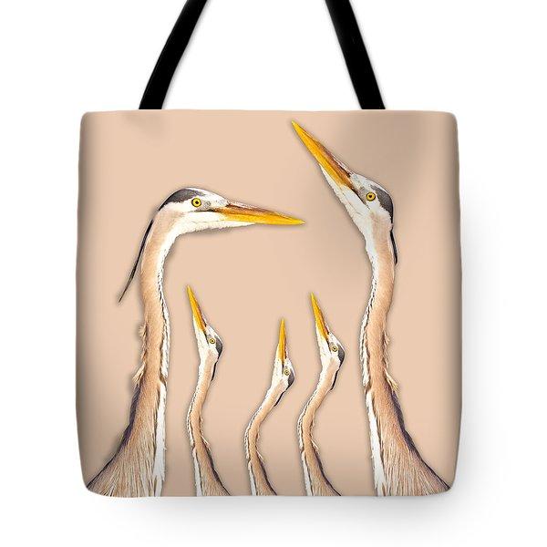 Five Herons Tote Bag
