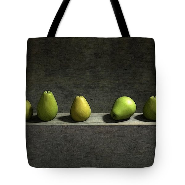 Five Pears Tote Bag by Cynthia Decker