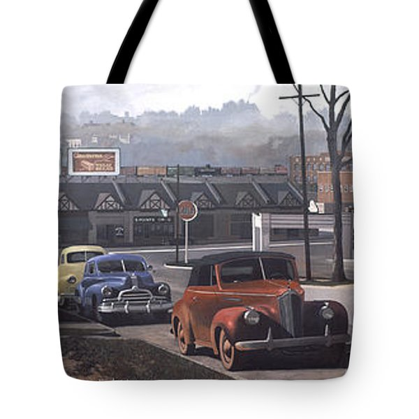Five Points - 1948 Tote Bag by Blue Sky