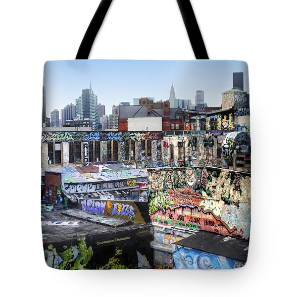 Tote Bag featuring the photograph Five Points Five Pointz by Dave Beckerman
