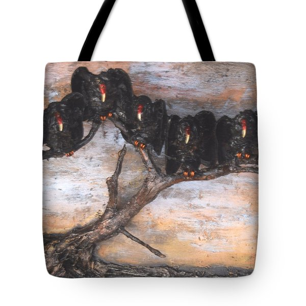 Five Vultures In Tree Tote Bag