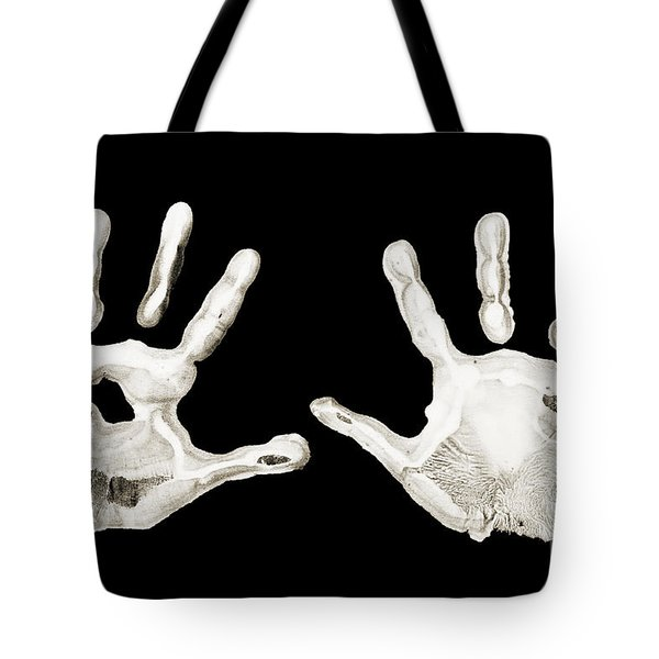 Five Years Old - Creative - Hands - First Painting Tote Bag by Andee Design