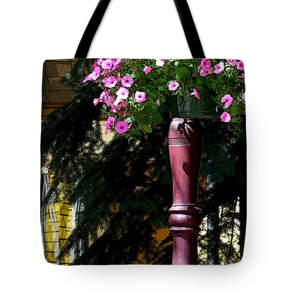 Flag And Flowers 6110 Pe Tote Bag