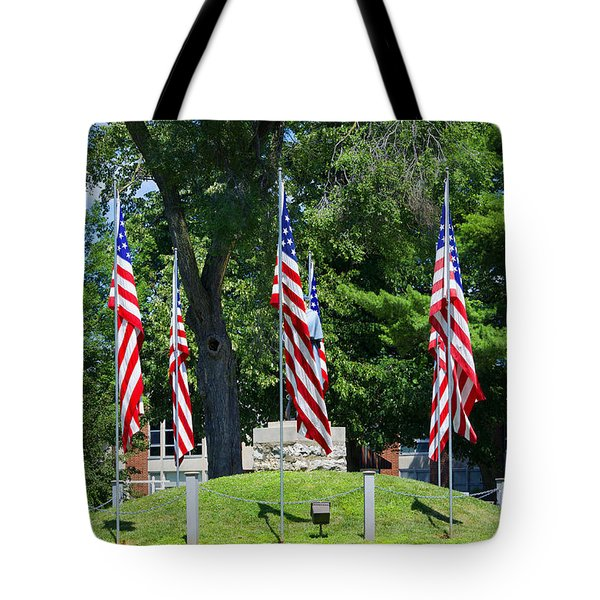 Flag - Illinois Veterans Home - Luther Fine Art Tote Bag by Luther Fine Art