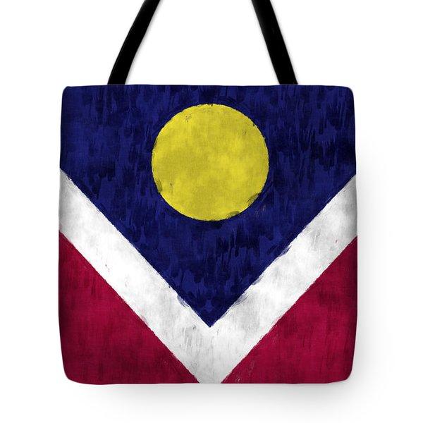 Flag Of Denver Tote Bag by World Art Prints And Designs