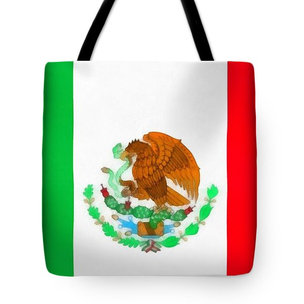 Flag Of Mexico Tote Bag by Dan Sproul