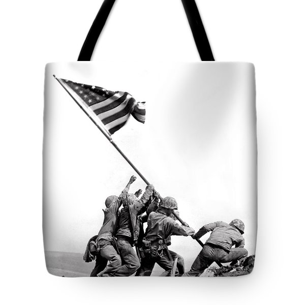 Flag Raising At Iwo Jima Tote Bag