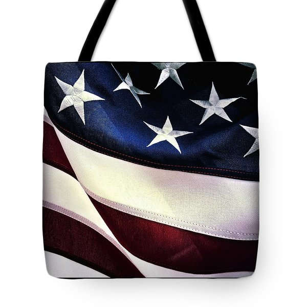 Tote Bag featuring the photograph Flag Spotting At The Va by Al Harden