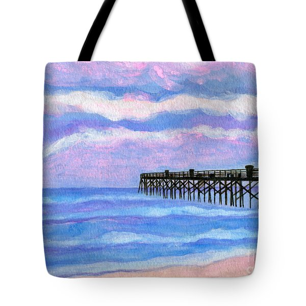 Flagler Beach Pier Tote Bag