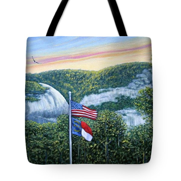Flags At Sunset Tote Bag