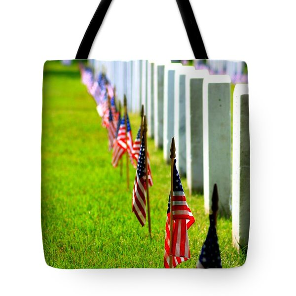 Flags In Tote Bag by Patti Whitten