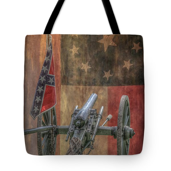 Flags Of The Confederacy Tote Bag by Randy Steele
