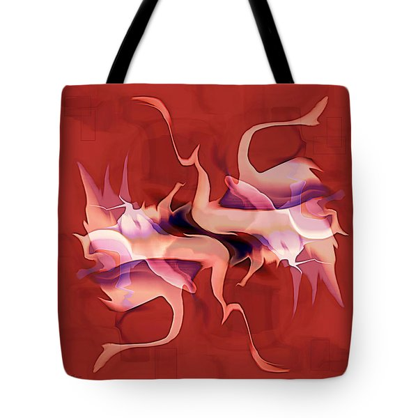 Flailing Abstract Tote Bag by Kae Cheatham