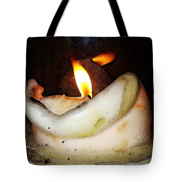 Flame Candle Art Tote Bag by Sharon Cummings