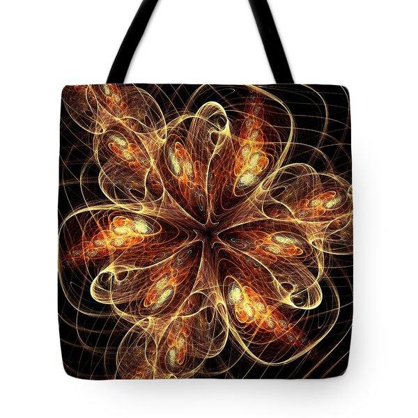 Flame Flower Tote Bag by Anastasiya Malakhova